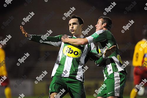 2012-11-17 / Voetbal / seizoen 2012-2013 / Racing Mechelen - Waregem / Bert Tuteleers viert zijn eerste doelpunt (1-1)..Foto: Mpics.be