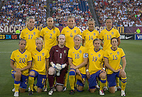Sweden starting eleven. The US Women's national team beat Sweden, 3-0, at Rentschler Field on July 17, 2010.