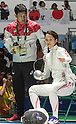 (L-R) Koichi Honma, Nozomi Sato (JPN), AUGUST 6, 2016 - Fencing : Women's Epee Individual 1st round at Carioca Arena 3 during the Rio 2016 Olympic Games in Rio de Janeiro, Brazil. (Photo by Enrico Calderoni/AFLO SPORT)