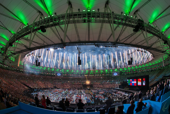 RIO DE JANEIRO - 18/9/2016: Closing ceremonies in Maracana Stadium during the Rio 2016 Paralympic Games in Rio de Janeiro, Brazil. (Photo by Matthew Murnaghan/Canadian Paralympic Committee)
