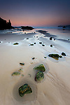 Dusk on the beach of La Franca, Asturias (Spain)