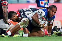 Agnatius Paasi. Sydney Roosters v Vodafone Warriors, NRL Rugby League. Allianz Stadium, Sydney, Australia. 31st March 2018. Copyright Photo: David Neilson / www.photosport.nz
