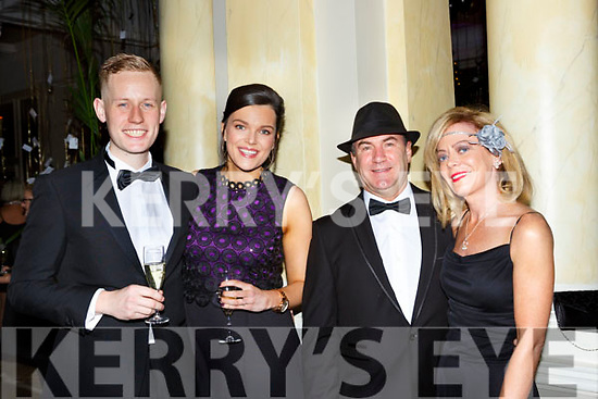 Michael Cronin, Dayna Hurley, Billy Carver and Kelly Anne O'Connor at the Great Gatsby Gala in the Malton Hotel on Friday night