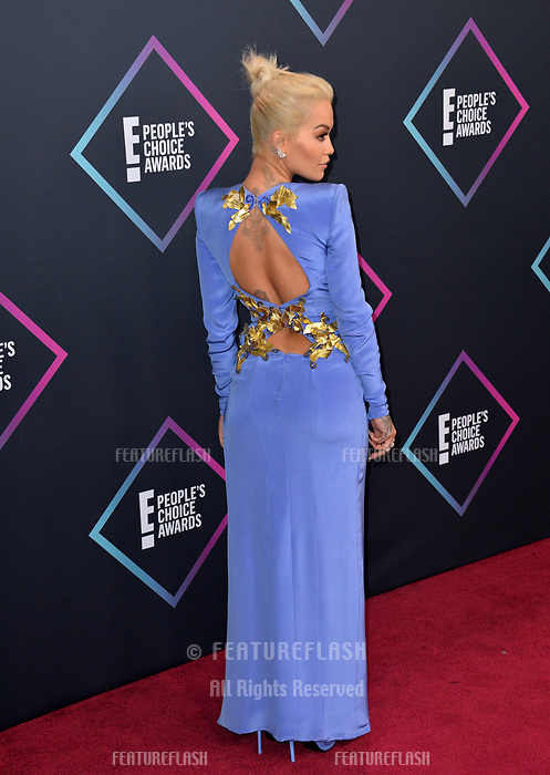 LOS ANGELES, CA. November 11, 2018: Rita Ora at the E! People's Choice Awards 2018 at Barker Hangar, Santa Monica Airport.<br /> Picture: Paul Smith/Featureflash