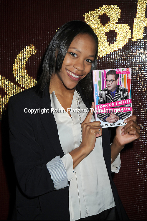 "Nikki M James attends Michael Musto's Book Release Party for his new book "" Fork on the Left, Knife in the Back"" on .September 19, 2011 at Copacabana in New York City."