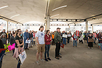 NWA Democrat-Gazette/BEN GOFF @NWABENGOFF<br /> Participants gather for a March for our Lives event Saturday, March 24, 2018, in downtown Springdale. The local march was organized by students from Springdale Har-Ber High in solidarity with marches across the country today to call for an end to gun violence.