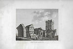 Engravings of Scottish landscapes and buildings from late eighteenth and early nineteenth century, Inch Colm Abbey, Inchcolm Island, Scotland 1791