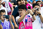 Asian supporters of Real Madrid before a match of La Liga Santander at Santiago Bernabeu Stadium in Madrid. October 02, Spain. 2016. (ALTERPHOTOS/BorjaB.Hojas)