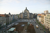Antwerp Central Station and Koningin Astridplein, Antwerp, Belgium