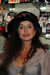 """General Hospital's Jackie Zeman who tries on Jane Elissa's many Hats for Health on September 10, 2010 at the New York Marriott Marquis, New York, New York as Daytime's TV and  Broadway stars get involved in helping launch Jane Elissa's """"Hats For Health"""" to promote awareness and to raise money for Leukemia and cancer research.   (Photo by Sue Coflin/Max Photos)"""