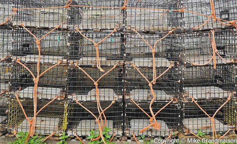 Lobster traps<br /> Grand Manan Island<br /> New Brunswick<br /> Canada