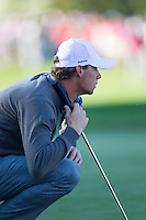 Thomas Pieters (Team Europe) on the 6th green during the Saturday morning Foursomes at the Ryder Cup, Hazeltine national Golf Club, Chaska, Minnesota, USA.  01/10/2016<br /> Picture: Golffile | Fran Caffrey<br /> <br /> <br /> All photo usage must carry mandatory copyright credit (&copy; Golffile | Fran Caffrey)