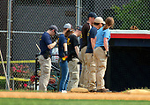 Evidence technicians from the FBI comb through the crime scene for evidence after a gunman opened fire on members of Congress who were practicing for the annual Congressional baseball game in Alexandria, Virginia on Wednesday, June 14, 2017.<br /> Credit: Ron Sachs / CNP<br /> (RESTRICTION: NO New York or New Jersey Newspapers or newspapers within a 75 mile radius of New York City)