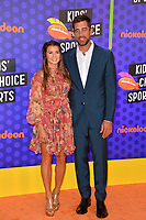 Danica Patrick &amp; Aaron Rodgers at the Nickelodeon Kids' Choice Sports Awards 2018 at Barker Hangar, Santa Monica, USA 19 July 2018<br /> Picture: Paul Smith/Featureflash/SilverHub 0208 004 5359 sales@silverhubmedia.com