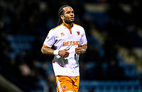 Blackpool's Nathan Delfouneso<br /> <br /> Photographer Rachel Holborn/CameraSport<br /> <br /> The EFL Sky Bet League One - Gillingham v Blackpool - Tuesday 6th November 2018 - Priestfield Stadium - Gillingham<br /> <br /> World Copyright &copy; 2018 CameraSport. All rights reserved. 43 Linden Ave. Countesthorpe. Leicester. England. LE8 5PG - Tel: +44 (0) 116 277 4147 - admin@camerasport.com - www.camerasport.com