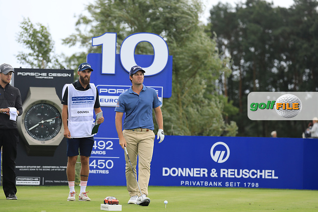 Ricardo Gouveia (POR) on the 10th tee during the 1st round at the Porsche European Open, Green Eagles Golf Club, Luhdorf, Winsen, Germany. 05/09/2019.<br /> Picture Phil Inglis / Golffile.ie<br /> <br /> All photo usage must carry mandatory copyright credit (© Golffile | Phil Inglis)