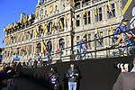 Wanty-Groupe Gobert team at sign on before the 101st edition of the Tour of Flanders 2017 running 261km from Antwerp to Oudenaarde, Flanders, Belgium. 26th March 2017.<br /> Picture: Eoin Clarke | Cyclefile<br /> <br /> <br /> All photos usage must carry mandatory copyright credit (&copy; Cyclefile | Eoin Clarke)