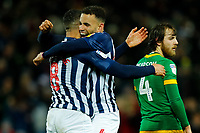 25th February 2020; The Hawthorns, West Bromwich, West Midlands, England; English Championship Football, West Bromwich Albion versus Preston North End; Hal Robson-Kanu and Jake Livermore of West Bromwich Albion celebrate Livermore's goal after 44 minutes for 2-0