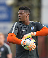 Goalkeeper Jamal Blackman of Chelsea U23 ahead of the pre season friendly match between Aldershot Town and Chelsea U23 at the EBB Stadium, Aldershot, England on 19 July 2017. Photo by Andy Rowland / PRiME Media Images.