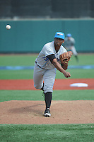 Hudson Valley Renegades pitcher Issac Gil (13) during game 2 of a double header against the Brooklyn Cyclones at MCU Park on July 8, 2014 in Brooklyn, NY.  Hudson Valley defeated Brooklyn 3-0.  (Tomasso DeRosa/Four Seam Images)