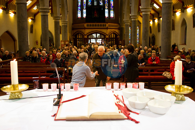 The mass in the Augustinian Church, dedicated to the memory of those who have lost their lives in road traffic accidents.<br /> Picture: Shane Maguire / www.newsfile.ie