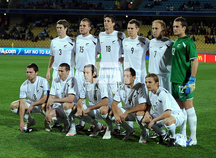 New Zealand Starting Eleven. Spain defeated New Zealand 5-0 during the FIFA Conferderations Cups at Royal Bafokeng Stadium, in Rustenburg South Africa on June 14, 2009.