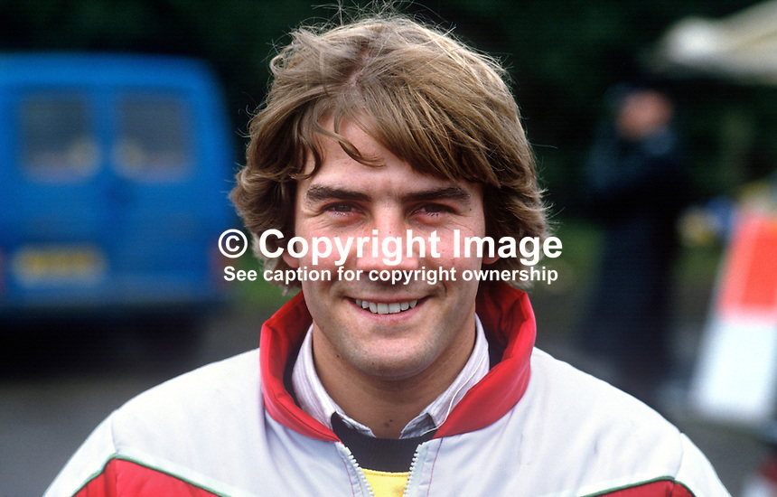 Neil Robinson, N Ireland, racing motorcyclist, 19850805NR1..Copyright Image from Victor Patterson, 54 Dorchester Park, Belfast, UK, BT9 6RJ..Tel: +44 28 9066 1296.Mob: +44 7802 353836.Voicemail +44 20 8816 7153.Skype: victorpattersonbelfast.Email: victorpatterson@me.com.Email: victorpatterson@ireland.com (back-up)..IMPORTANT: If you wish to use this image or any other of my images please go to www.victorpatterson.com and click on the Terms & Conditions. Then contact me by email or phone with the reference number(s) of the image(s) concerned.