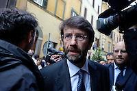Roma  23 Aprile 2013.Si riunusce  la direzione nazionale del Partito Democratico.Dario Franceschini