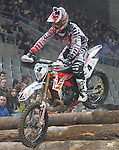 10.02.2013 Barcelona , Spain. FIM Superenduro World Championships. Picture show Thain Rodrig FRA riding Gas Gas during GP of Catalonia at Palau St. Jordi