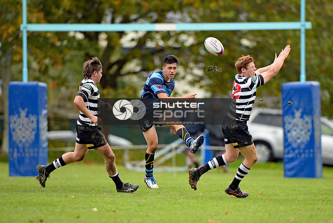 NELSON, NEW ZEALAND - APRIL 29: Rugby UC Championship, Nelson College v Christs College, April 29, 2017, Nelson College, Nelson, New Zealand. (Photo by: Barry Whitnall Shuttersport Limited)