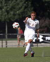 Boston College midfielder/defender Patrick Chin (9) passes the ball. Boston College defeated George Mason University, 3-2, at Newton Soccer Field, August 26, 2011.