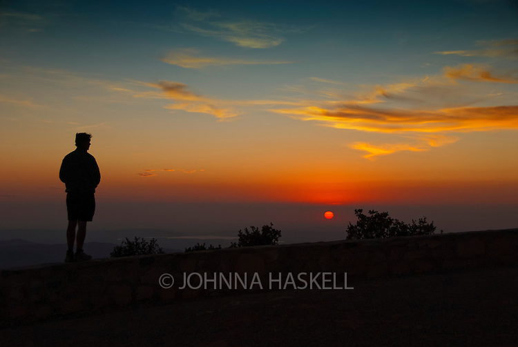Watching for the sunset from the top of Mt Lijar overlooking Algodonales, Spain.