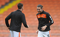 Blackpool's Antony Evans during the pre-match warm-up <br /> <br /> Photographer Kevin Barnes/CameraSport<br /> <br /> The EFL Sky Bet League One - Blackpool v Gillingham - Saturday 4th May 2019 - Bloomfield Road - Blackpool<br /> <br /> World Copyright © 2019 CameraSport. All rights reserved. 43 Linden Ave. Countesthorpe. Leicester. England. LE8 5PG - Tel: +44 (0) 116 277 4147 - admin@camerasport.com - www.camerasport.com