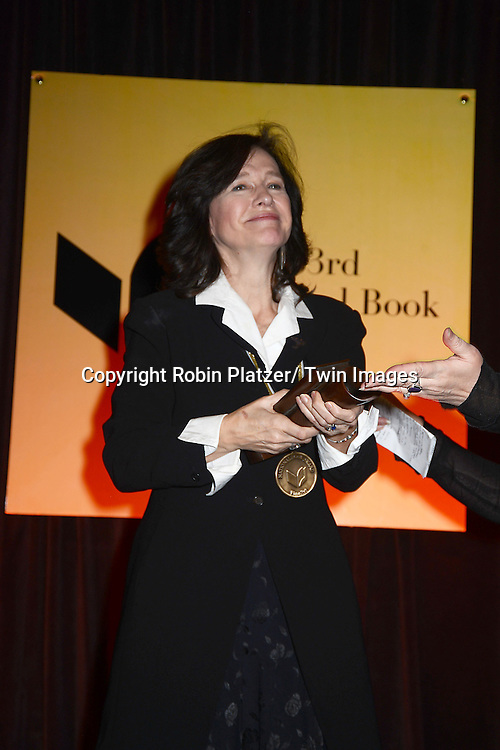 winner for Fiction Louise Erdrich attends the 2012 National Book Awards Dinner and Ceremony on November 14, 2012 at Cipriani Wall Street in New York City.