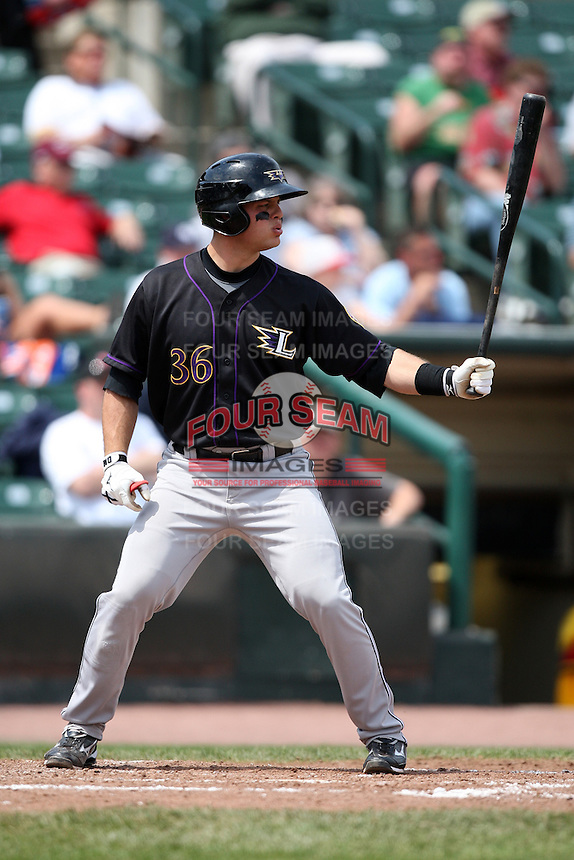 Louisville Bats catcher Devin Mesoraco #36 during a game against the Rochester Red Wings at Frontier Field on May 12, 2011 in Rochester, New York.  Louisville defeated Rochester 5-2.  Photo By Mike Janes/Four Seam Images