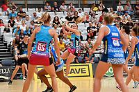 Steel's Gina Crampton  in action during the Netball Pre Season Tournament - Mystics v Steel at Ngā Purapura, Otaki, New Zealand on Saturday 9 February  2019. <br /> Photo by Masanori Udagawa. <br /> www.photowellington.photoshelter.com