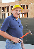 Royalty Free stock photo of mature construction worker