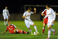 Pictured: Monday 13th October 2014<br /> Re: Swansea City U21 v Crewe Alexandra U21 at the Landore training facility, south Wales.