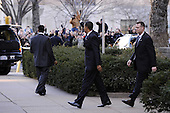 Washington, DC - January 8, 2009 -- United States President-elect Barack Obama (C) waves to supporters as he leaves the Presidential Inaugural Committee Headquarters in Washington on Thursday, January 8, 2009. .Credit: Kevin Dietsch - Pool via CNP