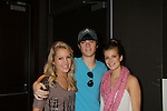 """One Life To Live's Eddie and Kristen Alderson and Kelley Missal """"Star and Danielle"""" at the Daytime Stars and Strikes Charity Event to benefit the American Cancer Society at the Bowlmore Lanes, New York City, New York. (Photo by Sue Coflin/Max Photos)"""
