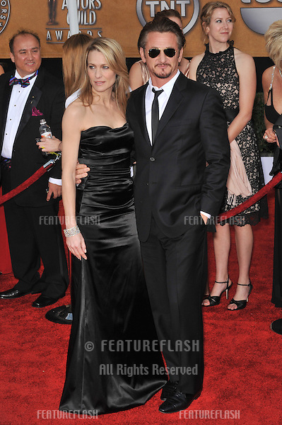 Sean Penn & Robin Wright Penn at the 15th Annual Screen Actors Guild Awards at the Shrine Auditorium, Los Angeles..January 25, 2009 Los Angeles, CA.Picture: Paul Smith / Featureflash