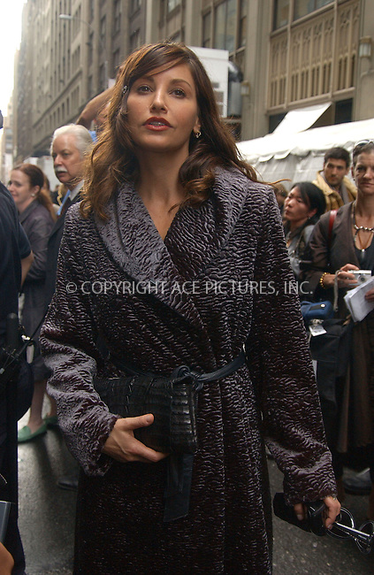 WWW.ACEPIXS.COM . . . . . ....September 14, 2006, New York City. ....Gina Gershon attends Calvin Klein Fashion Show during the Olympus Fashion Week.....Please byline: KRISTIN CALLAHAN - ACEPIXS.COM.. . . . . . ..Ace Pictures, Inc:  ..(212) 243-8787 or (646) 769 0430..e-mail: info@acepixs.com..web: http://www.acepixs.com