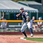 4 September 2017: Vermont Lake Monsters infielder Will Toffey gets the first out in the top of the 4th inning during the first game of a double-header against the Tri-City ValleyCats at Centennial Field in Burlington, Vermont. The Lake Monsters split their games, falling 6-5 in the first, then winning the second 7-4, thus clinching the NY Penn League Stedler Division Championship. Mandatory Credit: Ed Wolfstein Photo *** RAW (NEF) Image File Available ***