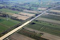 Autobahnbaustelle A26 Ausbauende Ausfahrt Jork: EUROPA, DEUTSCHLAND, NIEDERSACHSEN, BUXTEHUDE (EUROPE, GERMANY), 19.10.2018:Autobahnbaustelle A26 Ausbauende Ausfahrt Jork
