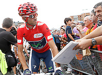 Alejandro Valverde with the fans during the stage of La Vuelta 2012 between Barakaldo and Valdezcaray.August 21,2012. (ALTERPHOTOS/Acero) /NortePhoto.com