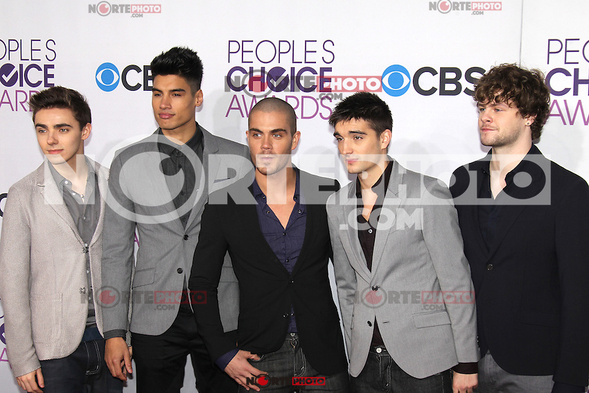 LOS ANGELES, CA - JANUARY 09: The Wanted at the 39th Annual People's Choice Awards at Nokia Theatre L.A. Live on January 9, 2013 in Los Angeles, California. Credit: mpi21/MediaPunch Inc. /NORTEPHOTO