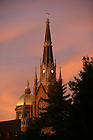 Dome and Basilica at sunset.<br /> <br /> Photo by Matt Cashore/University of Notre Dame