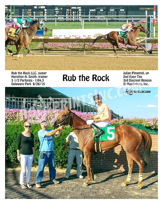 Rub the Rock winning at Delaware Park on 8/26/15