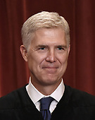 Associate Justice Neil Gorsuch poses for a group photograph at the Supreme Court building on June 1 2017 in Washington, DC. <br /> Credit: Olivier Douliery / Pool via CNP