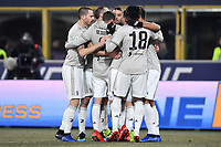 Federico Bernardeschi of Juventus celebrates with team mates after scoring a goal during the Italy Cup 2018/2019 football match between Bologna and Juventus at stadio Renato Dall'Ara, Bologna, January 12, 2019 <br />  Foto Andrea Staccioli / Insidefoto